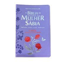 Biblia da Mulher Sábia Tulipa Lilás - Casa Publicadora Paulista