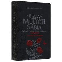 Biblia Da Mulher Sábia Tulipa Preto - Cpp