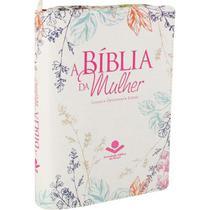 Bíblia da Mulher Tecido Média com Zíper  Florida  ARA - Sbb