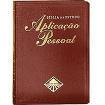Bíblia de estudo aplicação pessoal capa luxo vinho grande + marca página - Cpad
