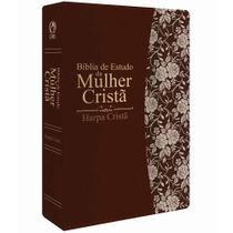 Bíblia de Estudo da Mulher Cristã Média Com Harpa Marrom - Cpad