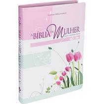 Bíblia De Estudo Da Mulher Leitura Devocional RA - Grande Luxo - Floral Tulipas - Sbb