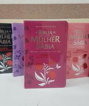 Bíblia de Estudo da Mulher Sábia Grande  ARC  Letra Normal  Harpa e Corinhos  Capa Tulipa Pink - Cpp