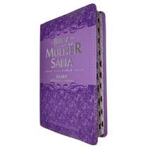 Bíblia De Estudo Da Mulher Sábia Letra Grande e Harpa Ramalhete Lilás - Cpp