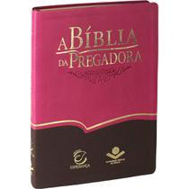 Bíblia De Estudo Da Pregadora Rosa E Marrom - Sbb -