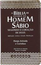 Bíblia de Estudo do Homem Sábio com Harpa Marrom - Cpp -