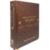 Bíblia de Estudo Holman Marrom - Cpad