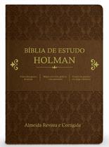 Bíblia de Estudo Holman - Marrom + marca página - Cpad