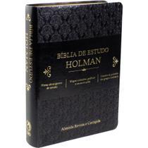 Bíblia de estudo Holman preta - Cpad -
