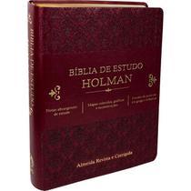 Bíblia de estudo holman vinho - arc - cpad -
