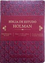 Bíblia De Estudo Holman Vinho - Editora Cpad -
