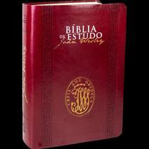 Bíblia de Estudo John Wesley - Vinho - Sbb