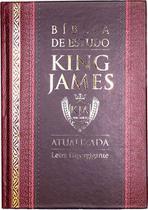 Bíblia de Estudo - King James 1611 - Capa Dura  Bordô e Preta - Cpp