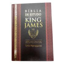 Bíblia de Estudo King James 1611 Capa Dura  Bordô e Preta -