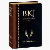 Bíblia de Estudo King James 1611 Com estudos Holman - Marrom com Preto borda dourada - Bv Books Editora