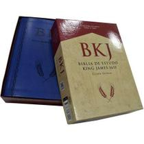 Bíblia De Estudo King James 1611 - Estudo Holman - Capa luxo Azul - Editora BV Books -