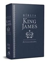 Bíblia de Estudo King James Letra Grande Azul - Art Gospel