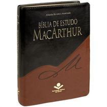 Bíblia de Estudo MacArthur Grande  Capa Preta e Marrom - Sbb
