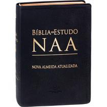Bíblia de Estudo NAA Couro  Nova Almeida Atualizada - Editora Sbb