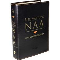 Bíblia De Estudo (NAA) Nova Almeida Atualizada - Couro - Luxo - Sbb