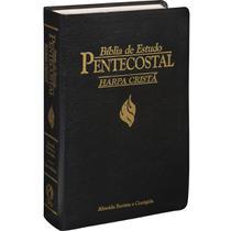 Bíblia de Estudo Pentecostal com Harpa / Capa preta borda dourada / ARC /SBB -