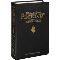 Bíblia de Estudo Pentecostal com Harpa Média Preta - Cpad - Escritos