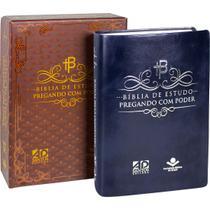 Bíblia de Estudo Pregando com Poder - Azul (Sem índice) - Sbb
