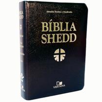 Bíblia De Estudo Shedd  Covertex Preta  VIDA NOVA - Editora Vida Nova