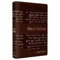 Bíblia de Estudo Textual | Letra Gigante | Luxo | Marrom - Bv Books -