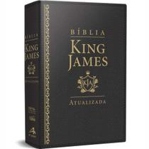Bíblia de Estudos King James Atualizada - L Grande - Preta - Art Gospel -