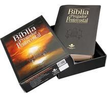 Bíblia do pregador pentecostal  arc  letra normal  capa luxo preta nobre  sbb -
