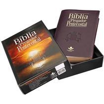 Bíblia do pregador pentecostal - luxo - preta/vinho - Sbb