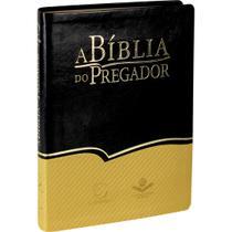 Bíblia do Pregador Preta e Dourada Grande - Sbb