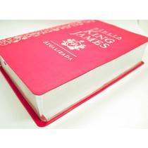 Bíblia Estudo King James Atualizada KJA Letra Grande Pink - Art Gospel