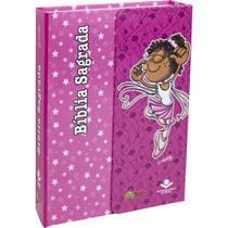 Bíblia feminina infantil letra maior mig & meg - capa rosa: nova tradução na linguagem de hoje (ntlh - SBB