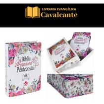 Bíblia gigante da Pregadora Pentecostal + caixa + capa transparente - Sociedade Bíblica Do Brasil