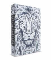 Bíblia jesuscopy leão branco - capa dura - naa - Jesus copy