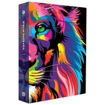 Bíblia Jovem Lion Color Legra Grande- Estilo JesusCopy - Mundo Cristão