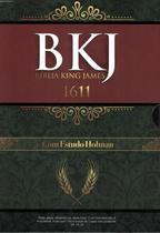 Biblia king james 1611 - com estudo holman - preta - Bv Films Biblia -