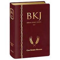 Biblia King James 1611 Com Estudo Holman - Vinho - Bvbooks