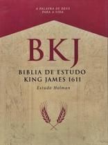 Bíblia King James 1611 Fiel Com Estudo Holman Luxo Preta - Bvbooks -