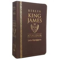 Bíblia King James Atualizada Hipergigante Luxo - Marrom - Cpp