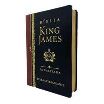 Bíblia King James Atualizada Letra Ultragigante Luxo Preta - Art Gospel