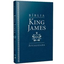 Bíblia King James Atualizada Slim   KJA   Azul - Art gospel -