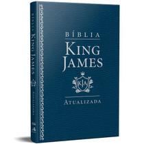 Bíblia King James Atualizada Slim Kja Azul Luxo - Art Gospel