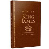 Bíblia King James Atualizada Slim | KJA | Marrom - Art Gospel -