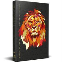 Bíblia King James Atualizada slim - Leão Preta - Art Gospel