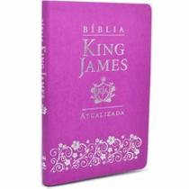 Bíblia King James Atualizada Slim Luxo - Lilás - Art Gospel -