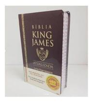 Bíblia King James Estudo Bkj Luxo 1611 Hiper Gigante Bordô - Davanstore