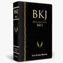 Bíblia king james  estudo holman 1611  editora bv books  capa luxo preta - Sbb